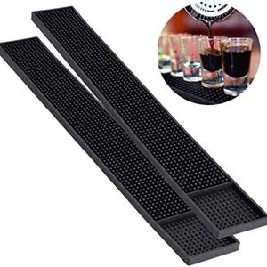 Noverlife 2PCS Rubber Bar Mats, Non-Slip Bar Servi